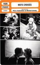 FICHE CINEMA : MOTS CROISES - D'Hervilly,Daix,Linsky 1926