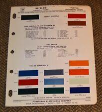 VTG 1963 Ditzler Auto Color Paint Chip Commercial 1952-63 Corvair 95 Corvan 6338
