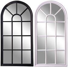76 x 91 cm Select Mirrors Brooklyn Specchio per finestra ad arco in metallo metallo roustico