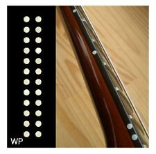 "New Small Custom Dots 1/8"" White Pearl Inlay Sticker Fret Side Markers Bridge JP"