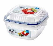 Lock & Lock Salad Lunch Box with Sauce Bowl and Tray 32fl.oz (950ml)