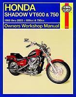 Haynes Workshop Manual  HONDA VT VT600 & VT750 Shadow models 1988 to 2009