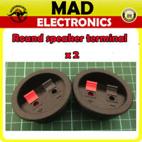 2 pcs x Round Speaker Terminal Plate Push Connection Spring Level sub-woofer