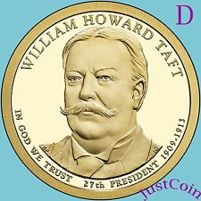 2013-D WILLIAM HOWARD TAFT GOLDEN PRESIDENT DOLLAR FROM UNCIRCULATED MINT ROLL