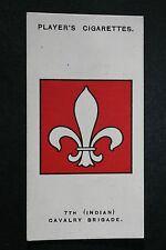 7th (Indian) Cavalry Brigade  Mesopotamia  World War 1  INSIGNIA CARD # VGC
