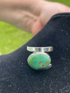 JAY KING DTR STERLING SILVER & TURQUOISE RING SIZE 10