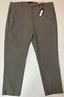 """M&S Collection SLIM Ankle Grazer Trousers Size 22 Long L29"""" Black Check RRP £35"""