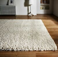 Athena Ivory Natural Luxurious Deep Pile Shaggy Rug Available In Various Sizes