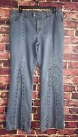 Platinum Edge Jeans Flared with Lace Holes - Size 13