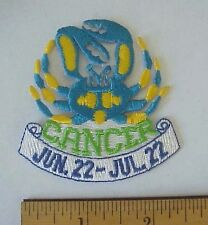 CANCER June. 22-July 22 ASTROLOGY EMBROIDERED IRON-ON TAIWAN PATCH