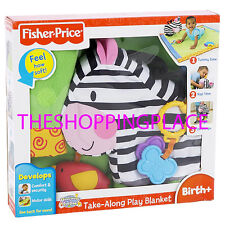 New Fisher Price Take Along Play Blanket Security Discover n Grow 0-24 Month