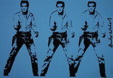 Limited POP ART edition silkscreen serigraph, Elvis, signed Andy Warhol w DOCS