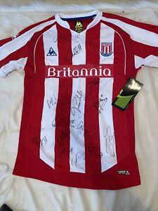Stoke City squad signed shirt