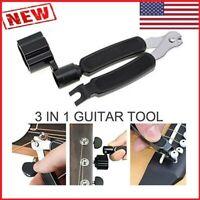 3 in 1 Guitar String Winder Cutter Bridge Pin Puller Change String wrench Tool