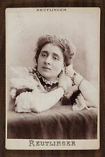 Jeanne Demarsy (ou De Marsy), Actrice de théâtre, Photo Cabinet card, Reutlinger