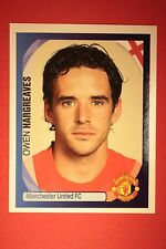 PANINI CHAMPIONS LEAGUE 2007/08 N. 241 HARGREAVES MAN. UNITED BLACK BACK MINT!