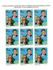 Guyana - 1997 - President Clinton Visit - Sheet Of 9 - MNH