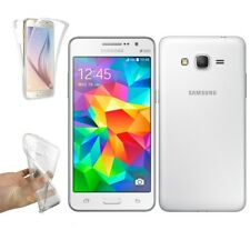 Funda Doble Silicona SAMSUNG GALAXY GRAND PRIME Gel TPU Transparente 360º s907