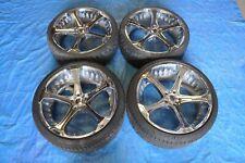 09-14 Bmw 750Li 750I Giovanna Dalar Wheels Rims & Tires 22 In Chrome 5X120 Set