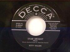 "KITTY KALLEN ""STAR BRIGHT / GENTLY JOHNNY"" 45 MINT"