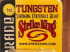 STRIKE KING Tungsten Swinging Football Head 1 oz Black / Green 2 packs Free Ship