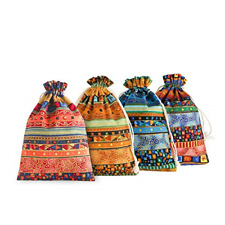20 Pcs Egyptian Ethnic Style Jewelry Coin Pouches Candy Gift Bags 5x7 inches Us
