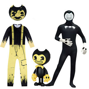 Kids Boys Girls Bendy And The Ink Machine Jumpsuit Party Cosplay Costume Stage