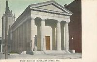 New Albany Indiana~First Church of Christ~1910 Postcard