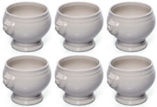Juego de 6 Terrina, Fuente de sopa, porcelana, blanco, 1 Litros