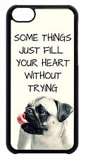 For Apple iPod 4 5 6 Cute Pug Puppy Dog Paws Quote Saying Skin Back Case Cover
