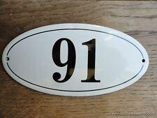 Stile ANTICO SMALTO PORTA NUMERO 91 Numero Civico Porta Placca Segno