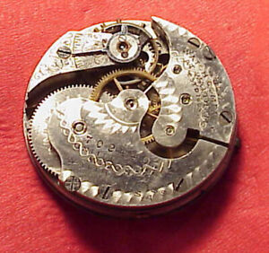 Vintage 29mm 0 SIZE LEVER SET UNITED STATES WATCH CO POCKET WATCH MOVEMENT TICKa
