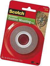 """New listing Heavy-Duty Exterior Mounting Tape, Holds 5 lb., 1""""x60"""""""