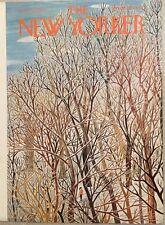 COVER ONLY ~The New Yorker magazine ~January 31 1959 ~ KARASZ ~ Ski tow line