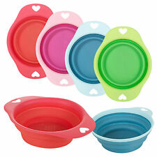 Silicone Pet Dog Cat Puppy Food Water Collapsible Travel Eating Bowl Dish Feeder