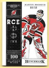11/12 Panini Dominion Benchmark #1 Martin Brodeur Hockey Stick Relic Card #08/50