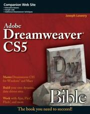 Adobe Dreamweaver CS5 Bible, Lowery, Joseph, Good Condition, Book