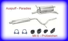 Abgasanlage Schalldämpfer Fiat Palio Weekend 1.6 16V (Typ 178_) ab 11/1997 + Kit