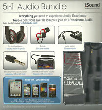NEW iSound 5 in 1 Ultimate Audio Bundle iPAD iPHONE IPOD SMARTHONES