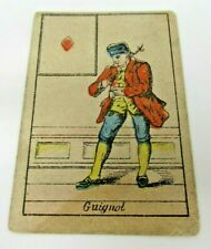 Guignol Card French Puppet Show Main Character Silk Industry France Antique