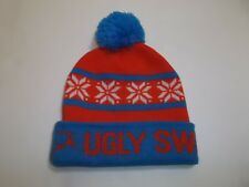 UGLY CHRISTMAS SWEATER WINTER KNIT HAT RED & BLUE ADULT'S NWOT