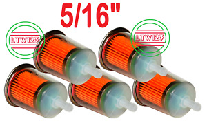 """(5) 5/16"""" Gas/Fuel Filter INDUSTRIAL HIGH PERFORMANCE UNIVERSAL INLINE   L 4"""""""