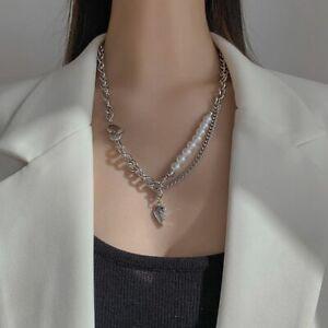 UK Personalized Pearl Love Pendant Necklace Female Retro Cross Men's Necklace