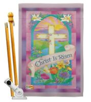 Breeze Decor BD-EA-HS-103043-IP-BO-D-US12-AM 28 x 40 in. Christ is Risen Spring