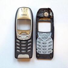 Original Nokia 6310 6310i Cover Gehäuse Front Schale Gold Schwarz + Bauteile