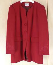 TAIFUN Collection: Blazer rot ♡ elegant ♡ mit Stickerei ♡ 50% Wolle