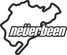 Neverbeen Nurburgring Auto Paraurti Finestra 4x4 Jdm Euro VW Dub Vinyl Decal Sticke