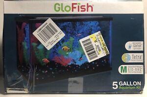 New GloFish Aquarium Kit 5 gallon Fish Tank  5x Tetra Whisper Filter Cartridges