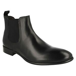 MENS MORENA GABBRIELLI LEATHER SMART FORMAL PULL ON ANKLE BOOTS FA-D1696