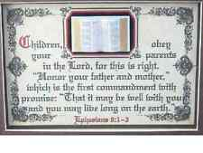 CHILDREN OBEY YOUR PARENTS IN THE LORD-Bible,Verse,Framed,Plaque,Christian Gifts